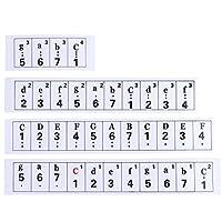 k-outdoor 透明 エレキ ピアノ キーボード 音符フルセットステッカー シール 61鍵 白と黒鍵に対応