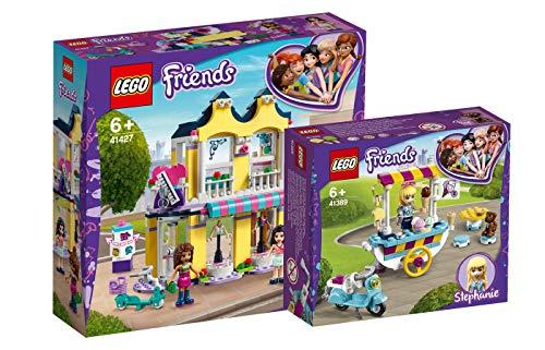 Collectix Lego Friends - Set: 41427 Emmas Mode-Geschäft + 41389 Stephanies mobiler Eiswagen