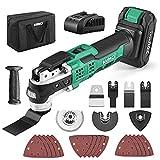 KIMO 20V Cordless Oscillating Tool Kit w/26-Piece Accessories, 21000 OPM...