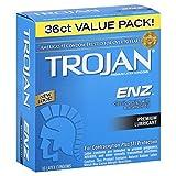 Trojan Enz Premium Latex Premium Lubricant Condoms 36 Count