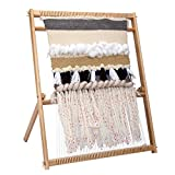 Inlovearts 23.6'H x 21.3'W Weaving Loom with Stand Wooden Multi-Craft Weaving Loom Arts & Crafts, Extra-Large...