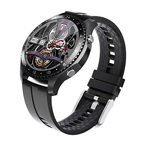 Reloj inteligente con Medidor de Temperatura Corporal/Llamada Bluetooth/Pulsómetros/Monitor de Sueño/SpO2/Presión Arterial, 11 modos deportivos, Fondo de bricolaje, Pulsera Actividad Inteligente ,A