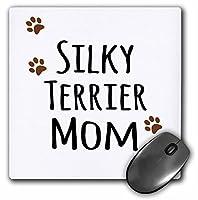 3drose Silky Terrier Dog Mom Doggie by Breed MuddyブラウンPaw Prints犬愛好家ペットオーナーProud Mamaマウスパッド( MP _ 154197_ 1)