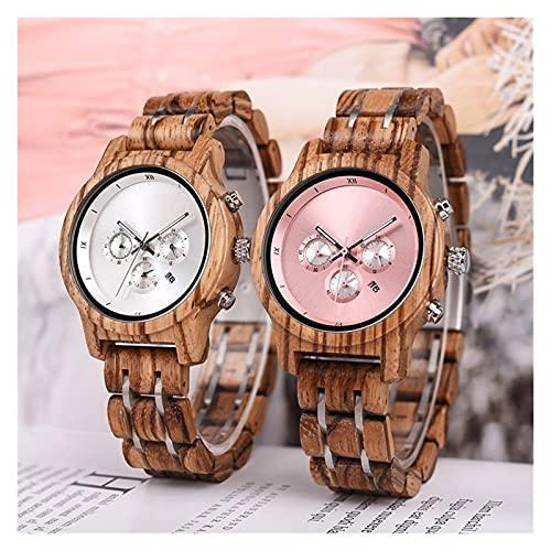 2pcs pareja reloj reloj de madera moda protección ambiental protección señoras reloj de alta gama reloj deportes retro reloj de madera europeo y americano modelos de vacaciones japoneses regalos de va