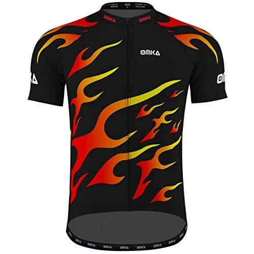 OMKA Herren Radtrikot Fahrrad Radler-Trikot Racing Performance Shirt mit Sublimationsdruck, Größe:S