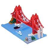 nanoblock NBH de 116–Mini bloques 3d Puzzle–Puente Golden Gate , color/modelo surtido