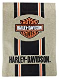 Harley-Davidson Bar and Shield Burlap Garden Flag