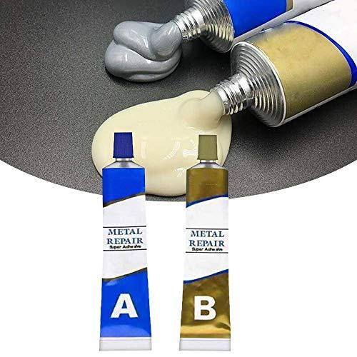 Permanent Water-Proof Magic Metal Mending Agent Industrial Heat Resistance Cold Weld Materials Metal Repair Paste Magic Welding Glue for DIY Household Automotive Marine Craft Repair (B:100g)