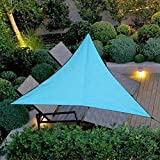 Ailyoo Toile Solaire Voile d'ombrage,Voile d'ombrage Triangle HDPE UV Résistant Anti...