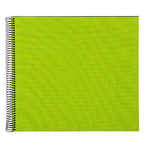 goldbuch Spiralalbum, Bella Vista, 35 x 30 cm, 40 schwarze Seiten, Leinen, grün, 25962