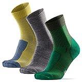 Merino Wool Light Hiking Socks (Multicolor 3-pairs (Grey, Green, Yellow), US Women 11-13 / US Men...