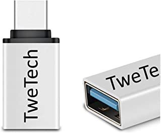 TweTech USB A (Female) to USB Type-C (Male) Adapter, OTG, USB-C Converter, Compatible with Smartphone, Tablet, Laptop, And...