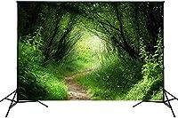 新しい緑の背景1.5x2.1mフォレストの写真パターンXT4167
