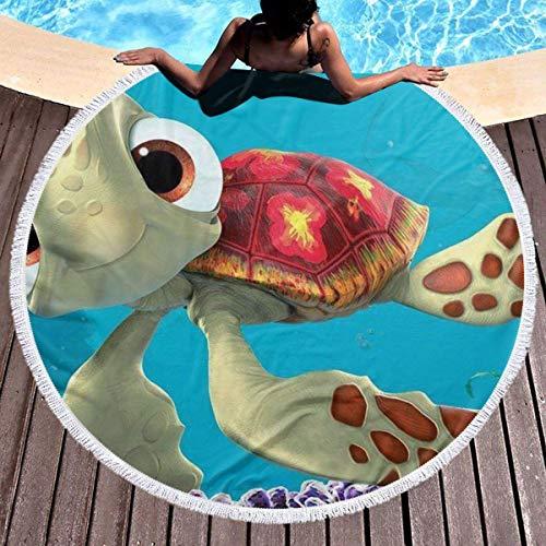 Not Applicable Round Throw Blanket,Encontrar La Toalla De Playa Redonda De Las Tortugas Marinas De Nemo, Toallas De Playa Redondas Adultas Divertidas Lindas,150x150cm