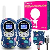 Walkie Talkies for Kids Rechargeable, Toys for 3-12 Years Old Kids Walkie Talkies, 22 Channels 2 Way Radio Walky Talky Toys for Boys and Girls Birthday Gifts