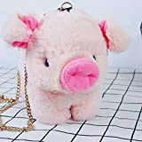 Plush Backpacks - 30x25cm pink Pig Crossbody Bag Soft Plush Backpack Cute Cartoon Piggy Baby Animal Toy Plush Backpack Kids Girl Outdoor Bags - by Timothy - 1 PCs