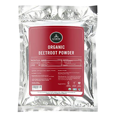 Organic Beet Root Powder (2 Ounces) by Naturevibe Botanicals, Raw & Non-GMO | Nitric Oxide Booster | Boost Stamina and Increases Energy