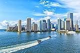 USA Miami Skyline Meer Stadt XXL Wandbild Kunstdruck Foto
