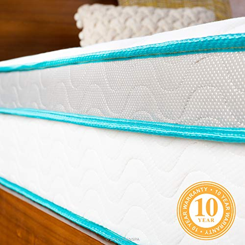 Linenspa 10 Inch Memory Foam and Innerspring Hybrid Mattress - Medium Feel - Queen