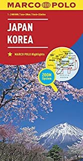 Marco Polo Japan,Korea: Wegenkaart 1:2 000 000 (Dutch Edition)