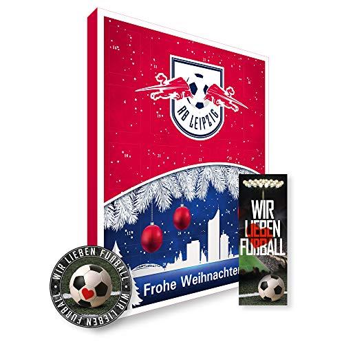 Adventskalender, Weihnachtskalender deines Bundesliga Lieblingsvereins 2019 - Plus gratis Sticker & Lesezeichen Wir Lieben Fußball (RB Leipzig Premium)