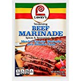 Lawry's Beef Marinade Mix (Meat Tenderizer Seasoning, No MSG), 1.06 oz (pack of 12)