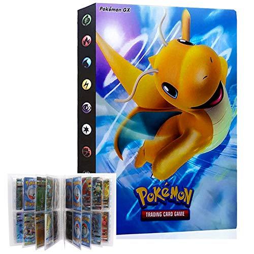 LSST Pokemon Sammelalbum, Pokemon Kartenhalter, Pokemon Karten Halter Binder, Pokemon Alben Ordner, 30 seitig Kann bis zu 240 Karten aufnehmen (Dragonite)