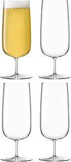 LSA BG06 Borough Pilsner Glass 440 ml Clear x 4
