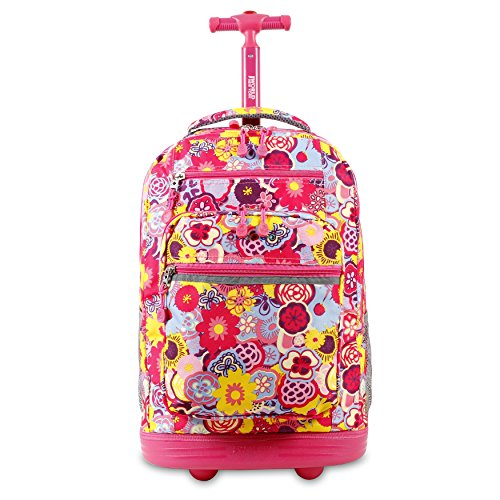 J World New York Sundance Rolling Backpack Mochila Tipo Casual 20 Centimeters 38.340000000000003 Multicolor (Poppy Pansy)