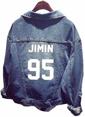 SERAPHY WOOKIT Unisex Jeansjacke für Army KPOP Hoodies Kapuzenpullover Suga Jin Jimin Jung Kook J-Hope Rap-Monster V 95 Jimin