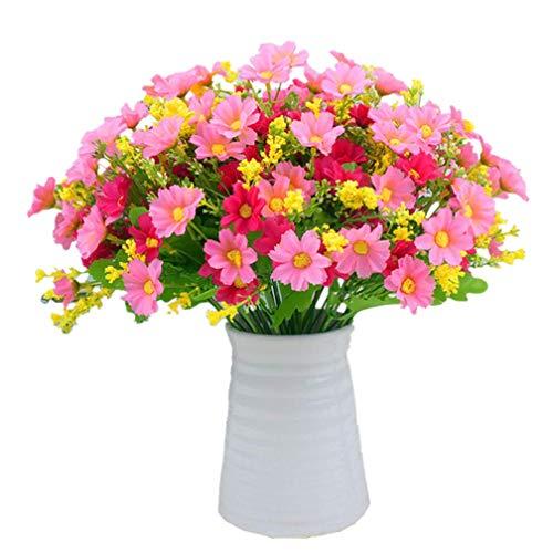 GONGFF 3 Pezzi di Fiori di Clivia di Seta e Bacche finte per la casa Matrimonio Decorazioni Natalizie Fiori di Clivia Miniata Artificiali e Bacche finte Rosa Rossa