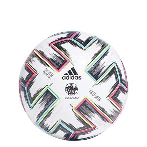 adidas UNIFORIA PRO, Pallone da Gara Unisex Adulto, Bianco/Nero/Segnale Verde/Ciano Brillante, 5