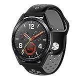 Kokymaker Cinturini in Silicone per Smartwatch Huawei Watch GT Cinturino Regolabile in Acciaio...