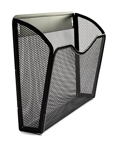 COLIBYOU Organizer Wall File Holder 3 Pack | Professional Quality Anti-Rust Metal Mesh | Hanging Wall Mounted Single Pocket Black | Essential For Home and Office Products and Supplies