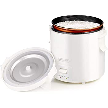 1.0L Mini Rice Cooker,WHITE TIGER Portable Travel Steamer Small,15 Minutes Fast Cooking, Removable Non-stick Pot, Keep Warm, Suitable For 1-2 People - For Cooking Soup, Rice, Stews & Oatmeal