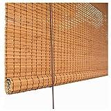 Giardino Persiana Enrollable de bambú para Ventana, persianas enrollables con Filtro de luz con Elevador, balcón, baño, Oficina, Patio, cenador, Porche, carport, persianas