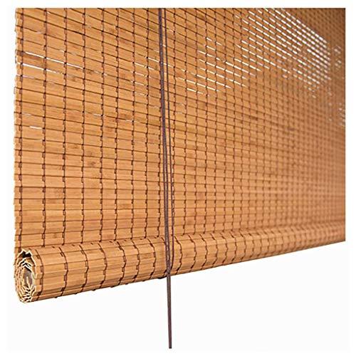 zhicheng shop Persiana Enrollable de bambú Natural, Cortina para Cortinas de Ventana para el hogar, balcón, baño, Oficina, Patio, Gazebo, Porche, carport, persianas para el Sol