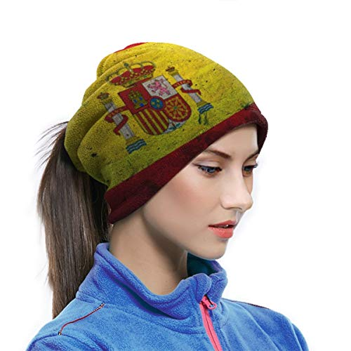 Multifunctionele Nek Warmer Xmas Present Winddicht Gezichtsmasker Winter Snood Sjaal Loop Wikkel Outdoor Fietsen Hoed Sjaals voor Mannen of Vrouwen| Spaanse Vlag Steen