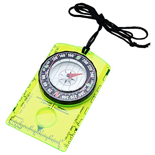 Professional Boy Scout Compass - Liquid Filled, Rotating Bezel, Magnetic Heading - for Navigation, Orienteering and Survival