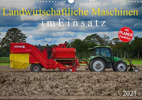 Landwirtschaftliche Maschinen im Einsatz (Wandkalender 2021 DIN A3 quer)