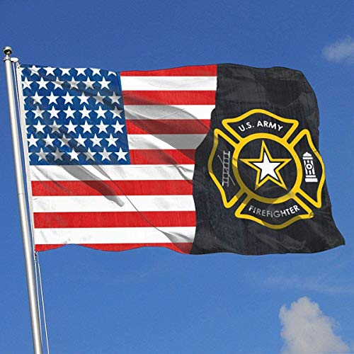 Oaqueen Flagge/Fahne Army Firefighter Breeze Flag 3 X 5-100% Polyester Single Layer Translucent Flags 90 X 150CM - Banner 3' X 5' Ft