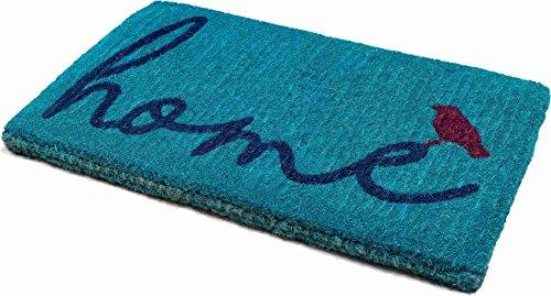 "Handwoven, Extra Thick Doormat | Entryway Door mat For Patio, Front Door | Decorative All-Season | A Bird Perched on Home | 18"" x 30"" x 1.60"""