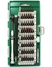 60in1 ドライバー 56種ビット S2合金鋼 耐摩耗性 精密ドライバーセット 特殊ドライバー ねじ回し ドライバービット トルクス y型 六角 星形 U型 三角ネジ 五角 プラス マイナス 特殊なネジ 磁石付き スマホ パソコン メガネ 時計など DIY作業工具 修理 改造 分解 多機能ツール