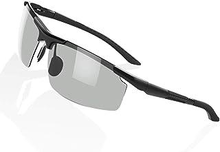 ANQUIKA 偏光 サングラス スポーツ 偏光レンズ 超軽量メタル UV400 紫外線カット ランニング アウトドア 自転車 登山 フィッシング ドライブ 用