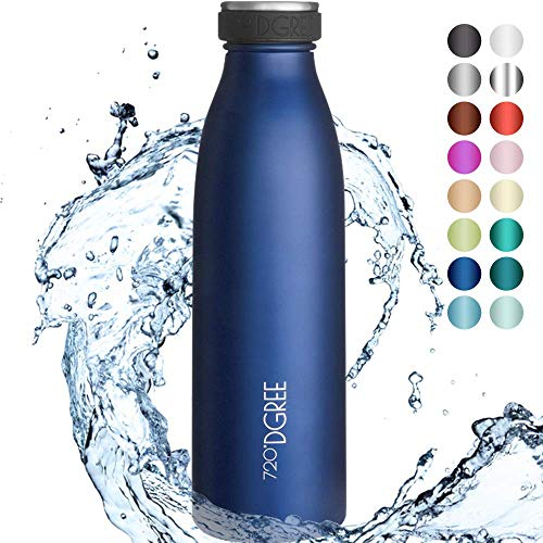 """720°DGREE Edelstahl Trinkflasche """"milkyBottle"""" - 350ml - Perfekt für Kinder, BPA-Frei, Auslaufsicher, Kohlensäure geeignet - Kleine Thermosflasche für Sprudel, Sport, Schule, Fitness"""