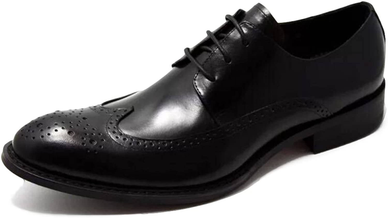 MERRYHE Herren Spitzschuh Lederschuhe Brogues Business Formal Schuh Lace Up Derby Wohnungen Für Hochzeit Abend Party Arbeit
