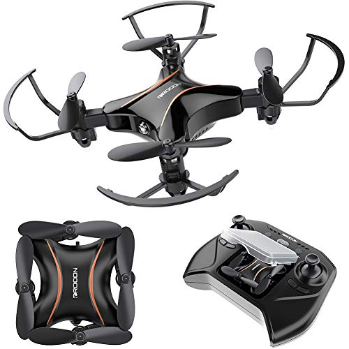 DROCON Mini Drone for Kids, Great Drone for Beginners Foldable Portable Pocket Small RC Quadcopter with Altitude Hold Mode, 3D Flips, Headless Mode, Easy to Fly for Boys and Girls and Makes a Great Gift