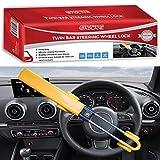 Best Steering Wheel Locks - GADLANE Twin Bar Steering Wheel Lock High Visibility Review