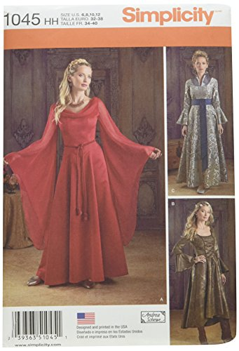 Papier 6-8-10-12-14 Simplicity Creative Patterns Costumes Kost/üme H5 Keine Angabe
