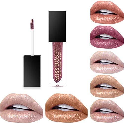 Asooll Shinning Liquid Lipsticks Long Lasting Durable Lip Gloss Diamond Shimmer Metallic Lipcolor Waterproof Cosmetics Makeup for Women and Girls Pack of 1 (Gold light)